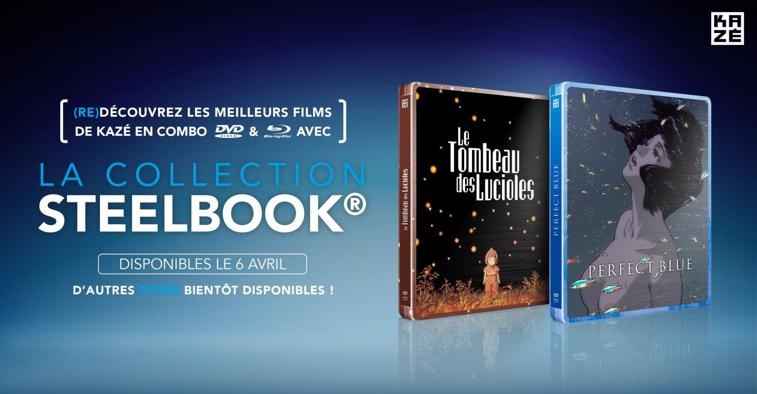 Kazé lance une nouvelle collection steelbook !