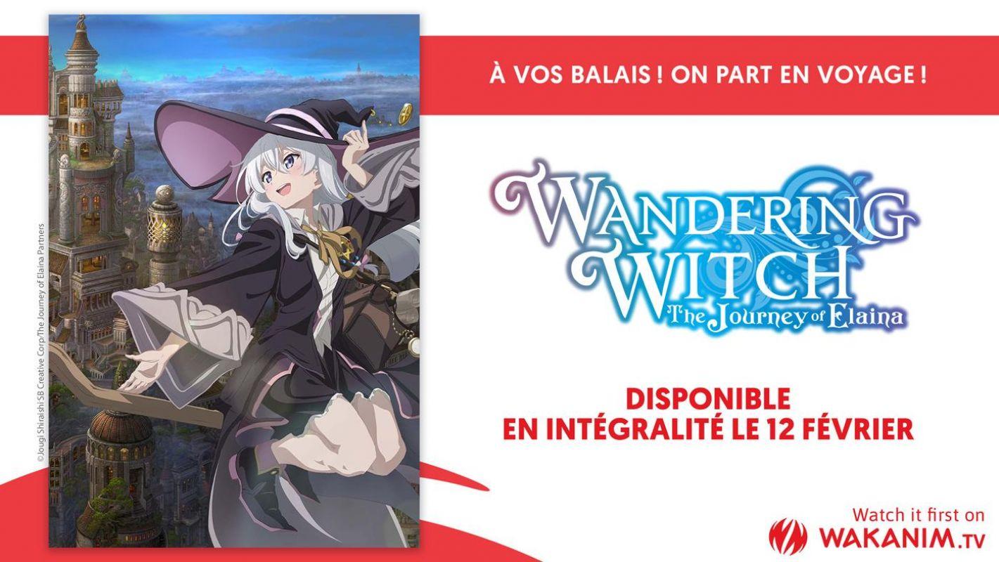 L'intégrale de l'animé Wandering Witch - The Journey of Elaina arrive sur Wakanim !