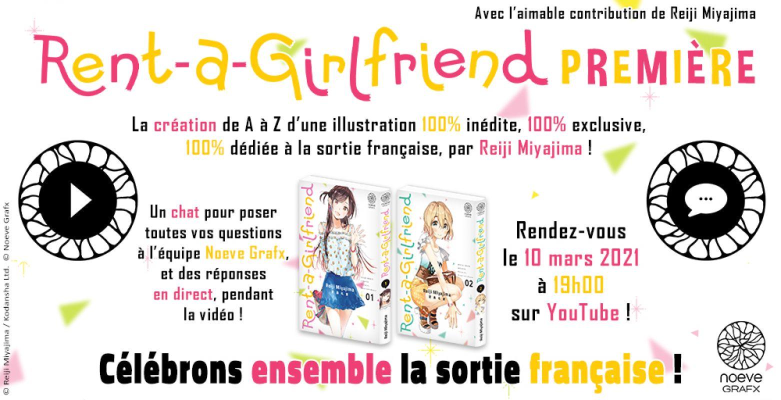 Un évènement live pour fêter le lancement de Rent-A-Girlfriend en France !