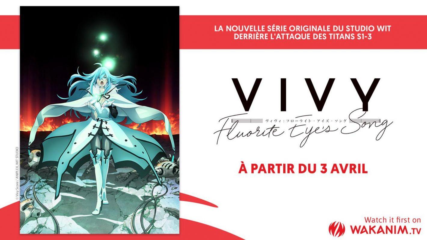 L'animé Vivy -Fluorite Eye's Song- en simulcast ce printemps sur Wakanim !