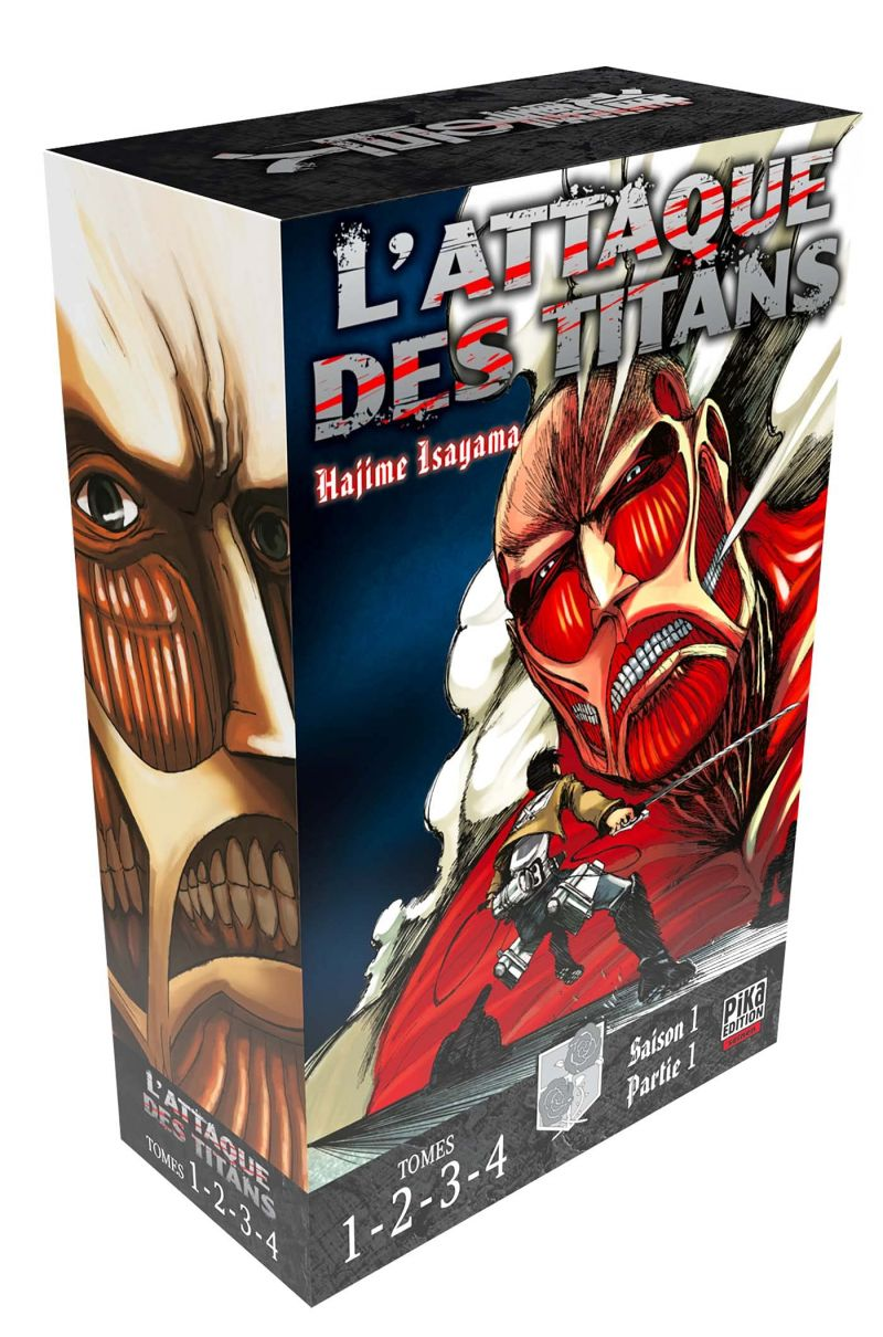Des coffrets pour le manga l'Attaque des titans